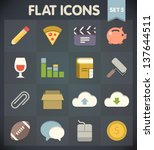 universal flat icons for web...