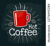 red cup coffee. vector color... | Shutterstock .eps vector #1376445284