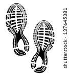 imprint soles shoes   sneakers | Shutterstock .eps vector #137645381