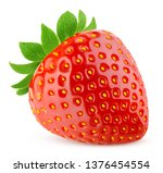 strawberry isolated on white... | Shutterstock . vector #1376454554