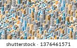 seamless urban plan pattern map.... | Shutterstock .eps vector #1376461571