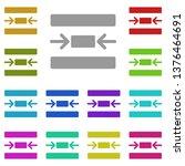 center  text multi color icon....