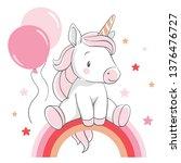 vector illustration of a cute... | Shutterstock .eps vector #1376476727