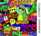 abstract seamless graffiti... | Shutterstock .eps vector #1376486711