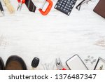 flat lay of blank space... | Shutterstock . vector #1376487347
