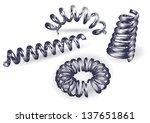 set of 4 springs | Shutterstock .eps vector #137651861