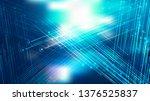 dark blue shiny crossing lines... | Shutterstock . vector #1376525837