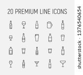 alcohol related vector icon set....   Shutterstock .eps vector #1376540654
