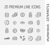 coin related vector icon set.... | Shutterstock .eps vector #1376540711