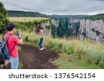 Tourists In The National Park...