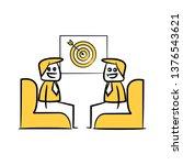 doodle stick figure businessman ...   Shutterstock .eps vector #1376543621