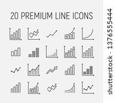 growth related vector icon set. ... | Shutterstock .eps vector #1376555444