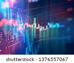 financial stock market graph...   Shutterstock . vector #1376557067