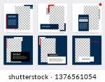 editable modern minimal square... | Shutterstock .eps vector #1376561054