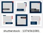 editable modern minimal square... | Shutterstock .eps vector #1376561081