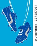Blue Football Shoes