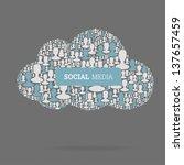 social media concept. cloud... | Shutterstock .eps vector #137657459