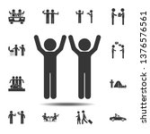 friends raised their hands icon....
