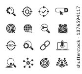 vector set of seo icons. | Shutterstock .eps vector #1376594117