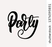 party lettering design. vector... | Shutterstock .eps vector #1376595851