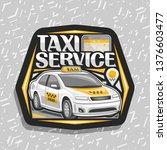 vector logo for taxi service ...   Shutterstock .eps vector #1376603477