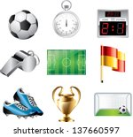 soccer icons detailed vector set | Shutterstock .eps vector #137660597