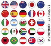 set of round flags world top... | Shutterstock .eps vector #137660771