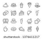 Set Of Sweet Bakery Icons  Suc...