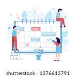 the development team sets the... | Shutterstock .eps vector #1376613791