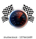 racing speedometer and... | Shutterstock .eps vector #137661689