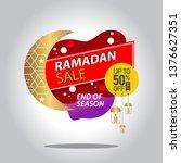 ramadan kareem sale with... | Shutterstock .eps vector #1376627351