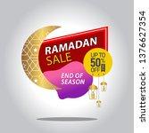 ramadan kareem sale with... | Shutterstock .eps vector #1376627354