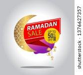 ramadan kareem sale with... | Shutterstock .eps vector #1376627357