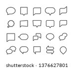 speech bubbles line icons. web...   Shutterstock .eps vector #1376627801