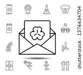 envelope  letter  trefoil icon. ...