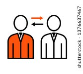 corporate interaction icon....   Shutterstock .eps vector #1376637467