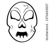 head skull cartoon image.... | Shutterstock .eps vector #1376642837