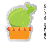 dotted sticker of a cactus.... | Shutterstock .eps vector #1376644121