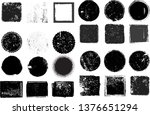 big collection of grunge post... | Shutterstock .eps vector #1376651294
