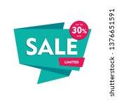 sale offer badge. promo seals... | Shutterstock .eps vector #1376651591