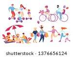happy family sparetime activity ...   Shutterstock .eps vector #1376656124
