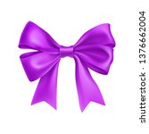 romantic purple ribbon bow... | Shutterstock .eps vector #1376662004