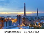 power station at sunset | Shutterstock . vector #137666465