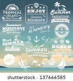 Vintage Summer Typography...