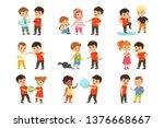 brave children characters... | Shutterstock .eps vector #1376668667