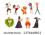 Flat Vector Set With People In...