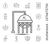 hydrogen tank icon. simple thin ...