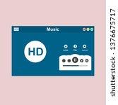 music modern app user interface ...