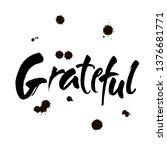 grateful hand drawn postcard....   Shutterstock .eps vector #1376681771