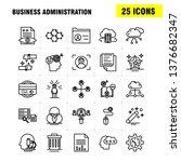 business administration line... | Shutterstock .eps vector #1376682347